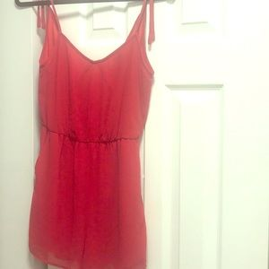BCBG Red romper with pockets